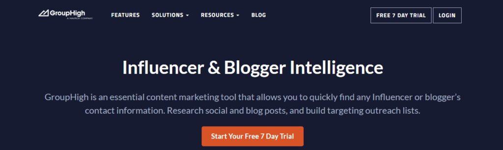 grouphigh - Marketing Software for Blog Outreach & Influencer Marketing